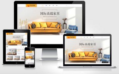 响应式家居生活网站案例